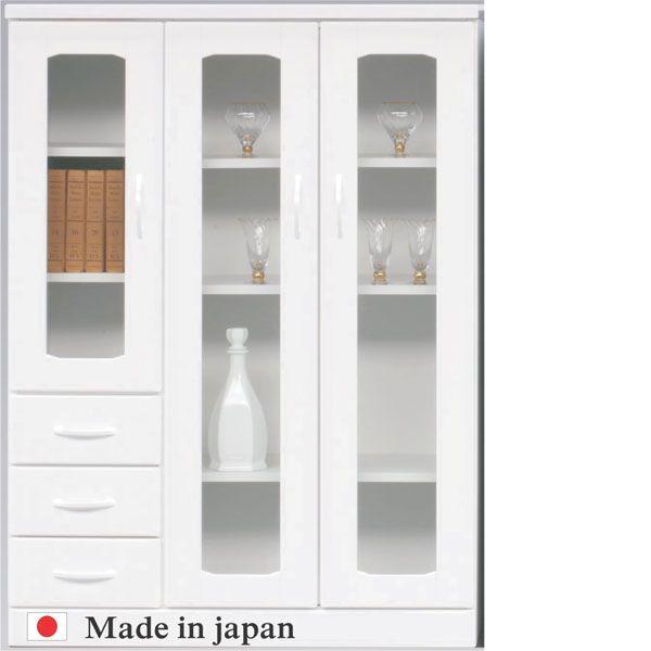 本棚 書棚 飾り棚 ブックシェルフ ミドルボード 北欧 シェルフ 幅90cm 日本製 ホワイト シンプル モダン 送料無料