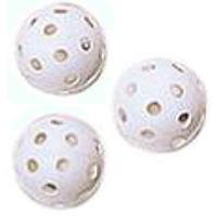 [スーパーホッケー]中空穴あきボールはスピードが出過ぎず安全!室内で楽しむミニホッケー 【レジャー・ニュースポーツ 室内ホッケー】ユニホック ボール(1ダース) US-12X