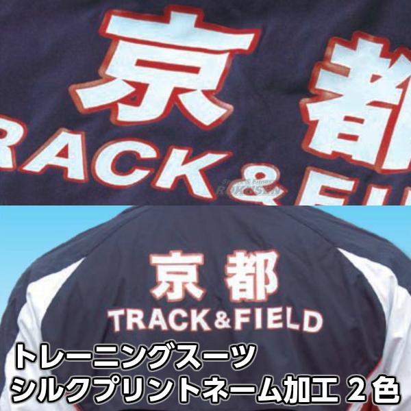【NISHI ニシ・スポーツ】トレーニングスーツ・ランニングシャツ ネーム加工 シルクプリント 2色 英文 版代 マーキング チームオーダー
