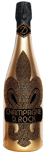 【送料無料】のし対応 D.ROCK BRUT GOLD 750ml 正規品 シャンパン クリスタル装飾 高級シャンパン お祝 高級感 輝き 誕生日 パーティ 特別
