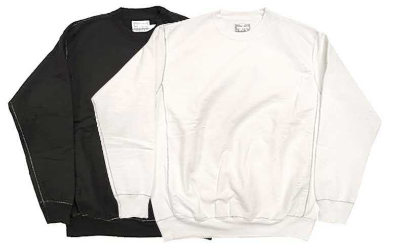 NEXUSVII. ネクサスセブン REBUILT CREW SWEAT リビルト クルー スエット 2色(BLACK/WHITE)