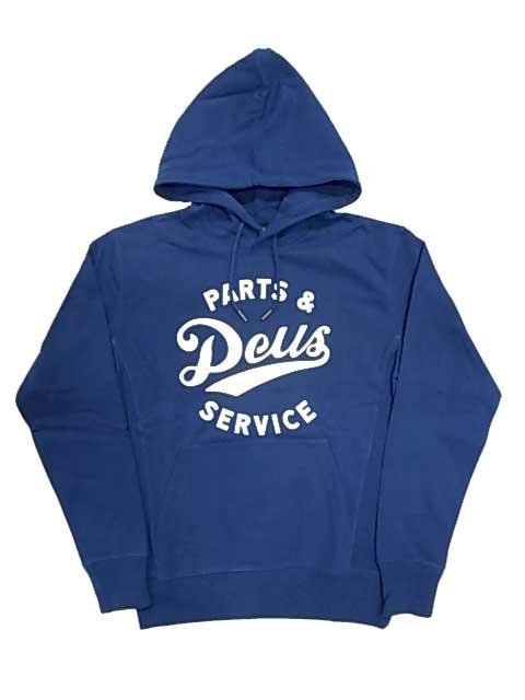 ★SALE 20%OFF★ Deus ex Machina デウスエクスマキナ STATION HOODY ステーション フーディ プルパーカ スウェット ESTATE BLUE