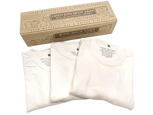 Nigel Cabourn ナイジェル・ケーボン 3パック ジムTシャツ 3-PACK GYM TEE Tシャツ WHITE Made in JAPAN