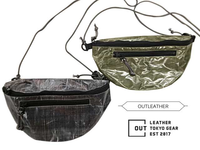 DAMASQUINA ダマスキーナ OUTLEATHER FUNNY PACK TYPE1 アウトレザー ファニーパック 2色(BLACK/OLIVE)