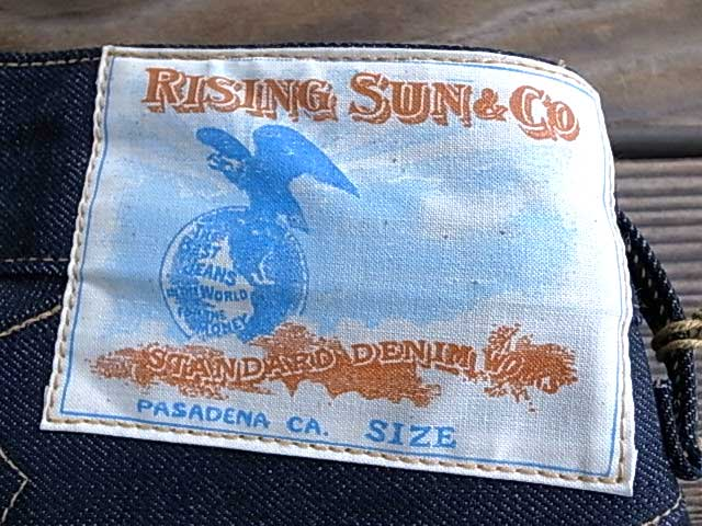 Rising Sun&Co Raigingsan Blacksmith Crossroad Washed黑色史斯密Jeans denimupantsujinzusutoretorijittoindigo Made in USA