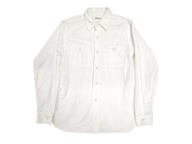 WAREHOUSE ウエアハウス DUCK DIGGER Lot 3076 TRIPLE STITCH L/S WORK SHIRTS WHITE ワークシャツ シャンブレーオフ