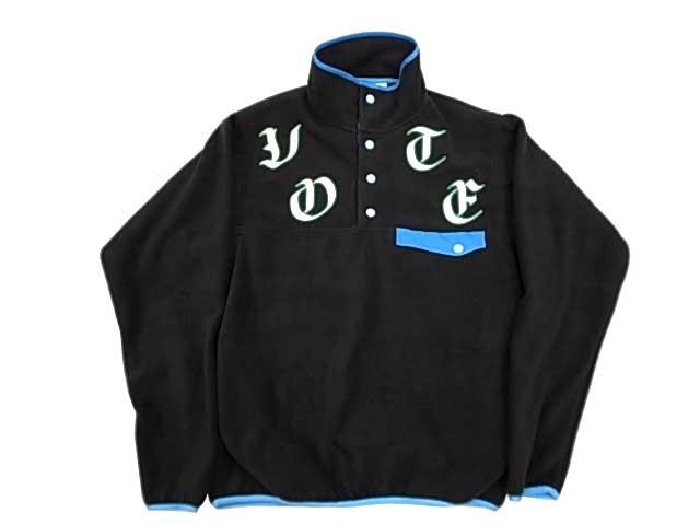 【SALE 50%OFF】VOTE Make New Clothes ヴォート メイク ニュー クローズ VOTE FLEECE PULL OVER フリース プルオーバー BLACK