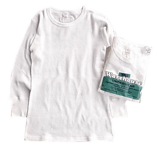 WAREHOUSE × Style&Respect ウエアハウス × スタイル&リスペクト CREW NECK THERMAL L/S TEE サーマル クルーネック ホワイト 長袖 ロンT