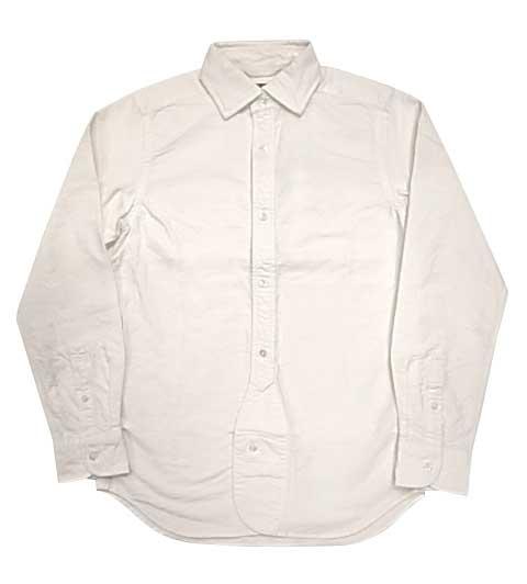 Nigel Cabourn ナイジェル・ケーボン BRITISH OFFICERS SHIRT ブリティッシュ オフィサーズ シャツ WHITE(2-100)2019モデル Made in JAPAN