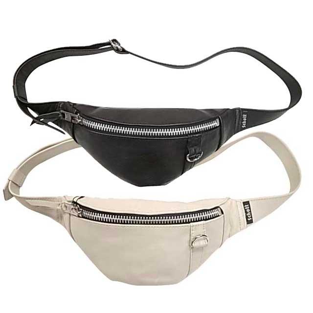 SCHOTT ショット BODY BAG SMALL ボディバッグ スモール ウエストバッグ 2色(BLACK/WHITE)