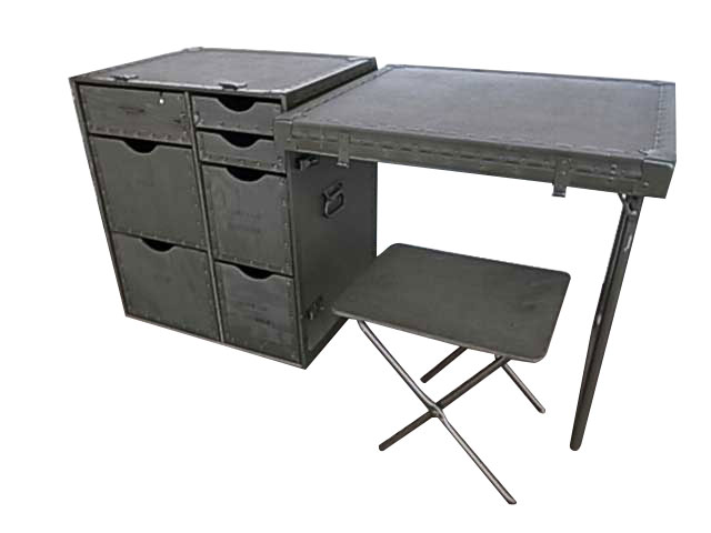 【DEAD STOCK】US ARMY Field Desk フィールド デスク フォールディングデスク ミリタリー 椅子1脚付き 【デッドストック】