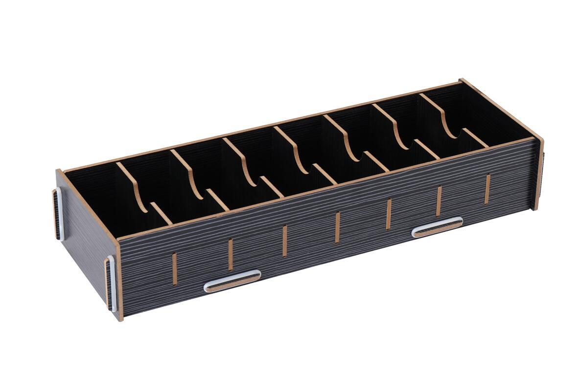 名刺カードボックス 収納ボックス 大容量 木製 卓上 名刺収納ラック ブラック 仕切り板7枚 名刺整理箱 送料無料 名刺 おトク 病院 受付 mak-b65 診察券 オフィス 名刺スタンド 整理 定番