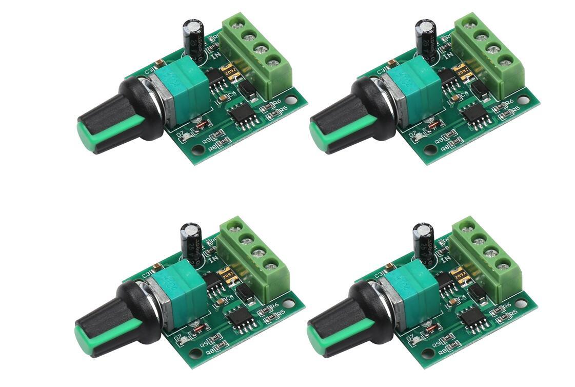 速度コントローラー 速度制御モジュール パソコンパーツ モーター速度制御装置 スピードコントローラー 100 PMW DC モーター 速度 コントローラー 2A パーツ 送料無料 国内正規品 電流 部品 モジュール 電圧 1.8-12V 4個セット パルス幅変調 mak-b93 販売実績No.1