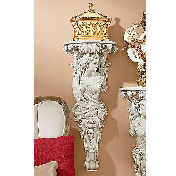 フランス バロック様式 飾り彫刻棚 女人像柱 家具インテリア 彫像/ French Baroque Caryatid Facing Right(輸入品)