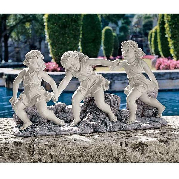 手をつなぎ輪になって回り踊る少女達 ダンス・リトル・ガールズ 彫像 彫刻(輸入品)