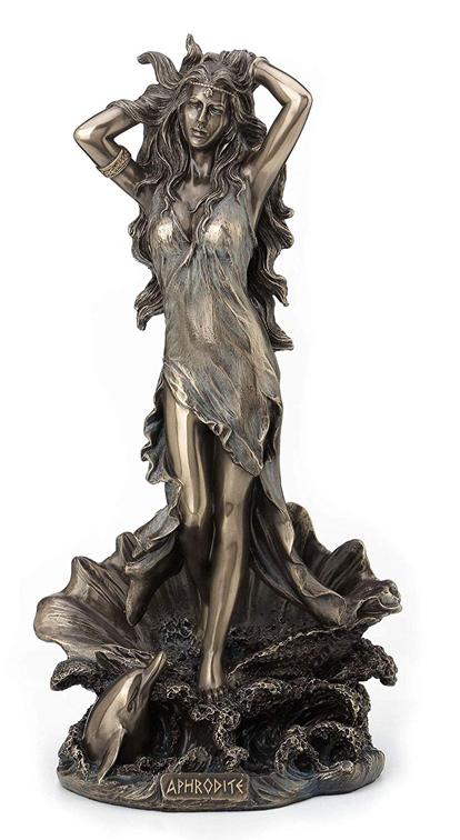 水面から立ち上がる、アフロディーテ(ヴィーナス) ギリシャ・ローマ女神 ブロンズ風 彫像 彫刻(輸入品)