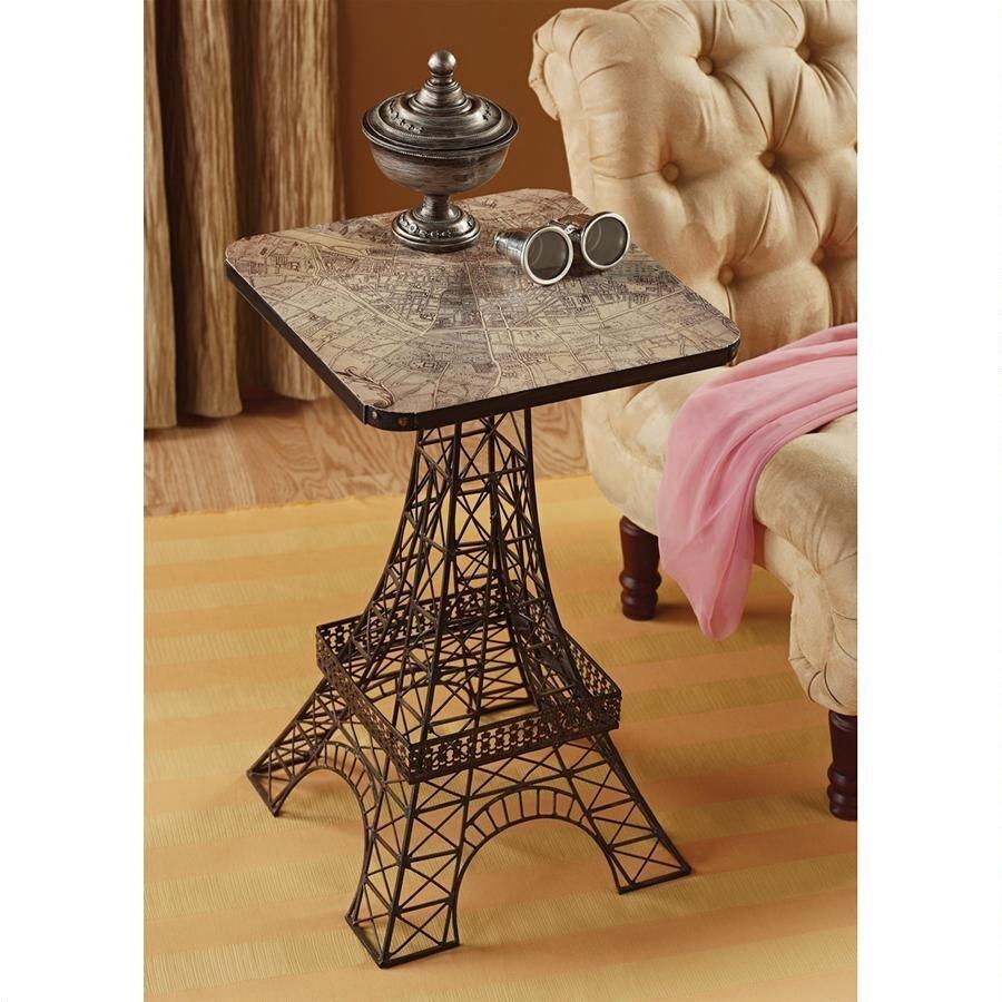 デザイン・トスカノ製 エッフェル塔 メタル製 サイドテーブル ブラック色 彫刻 彫像(輸入品)