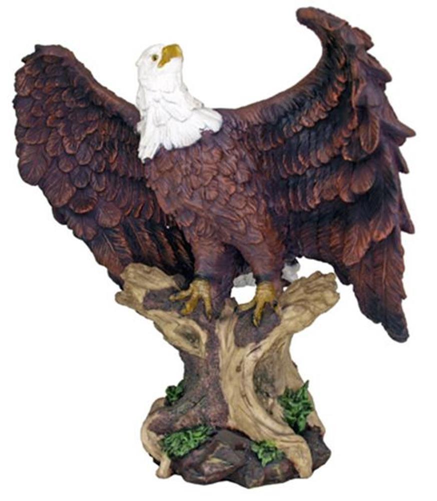 枝に止まる 空の王 白頭鷲 彫刻 彫像 高さ 約46cm/ Large Perching American Bald Eagle Statue Home Garden Decor(輸入品)