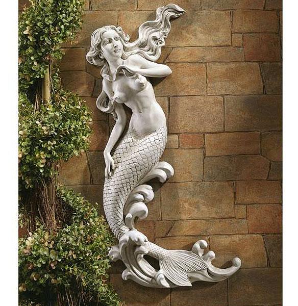 美しい人魚姫の壁装飾レリーフ 彫像 デンマーク ランゲリニエ公園 人魚姫/ The Mermaid of Langelinie Cove Wall Decor(輸入品)