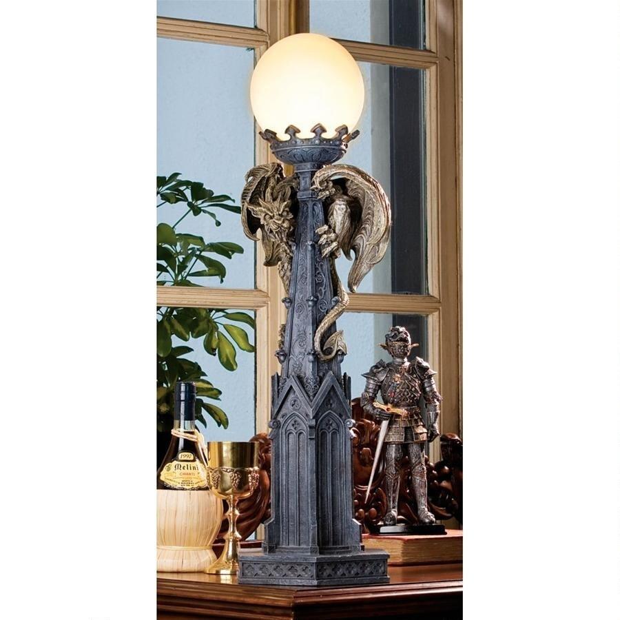 デザイン・トスカノ製 イーストモア大聖堂のガーゴイル ランプ照明彫刻 彫像(輸入品)