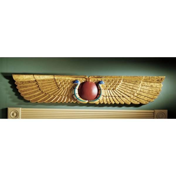 デザイン・トスカノ製 古代エジプトの寺院の壁彫刻(ペディメント) 彫刻 彫像/ Egyptian Temple Sculptural Wall Pediment(輸入品)