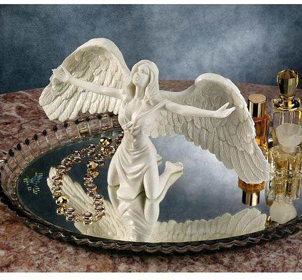 祈りの天使 大理石風 彫像/ Pray for Peace Bonded Marble Angel Statue(輸入品