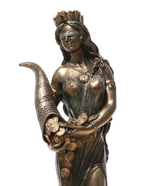 ヴェロネーゼ製 幸運の女神 フォルトゥナ(フォルトゥーナ)(テュケー)彫刻 置物 彫像(輸入品)