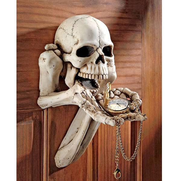 懇願し手を差し出す骸骨 壁掛け彫像 装飾スケルトン ゴシック棚彫刻/ Begger for Souls Skeleton Wall Sculpture(輸入品)