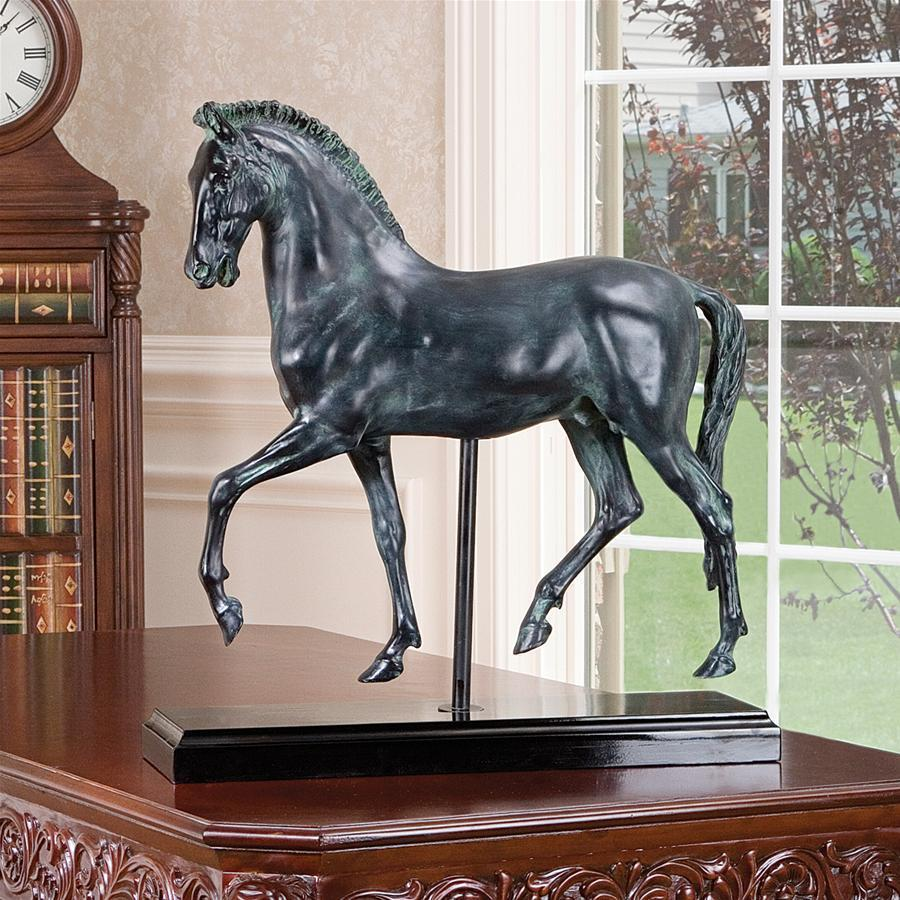 デザイン・トスカノ製 古典的な馬の研究 彫刻 彫像/ Classical Horse Study Sculpture(輸入品)
