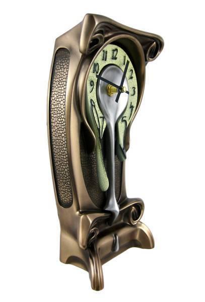 アールヌーボー風(シュールレアリズム ダリ風) 融ける置時計 テーブル・クロック彫刻 彫像(輸入品)