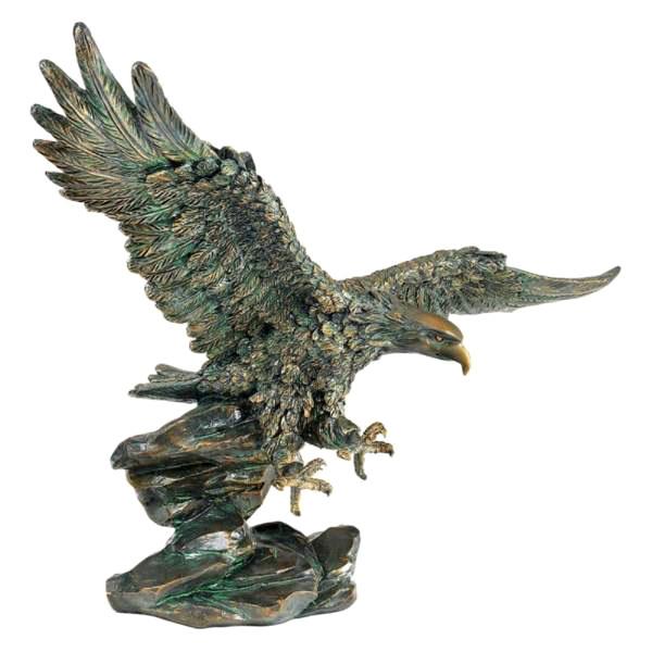 勝利の鷲 彫刻 サミュエルライトフット作 彫像 彫刻(輸入品)