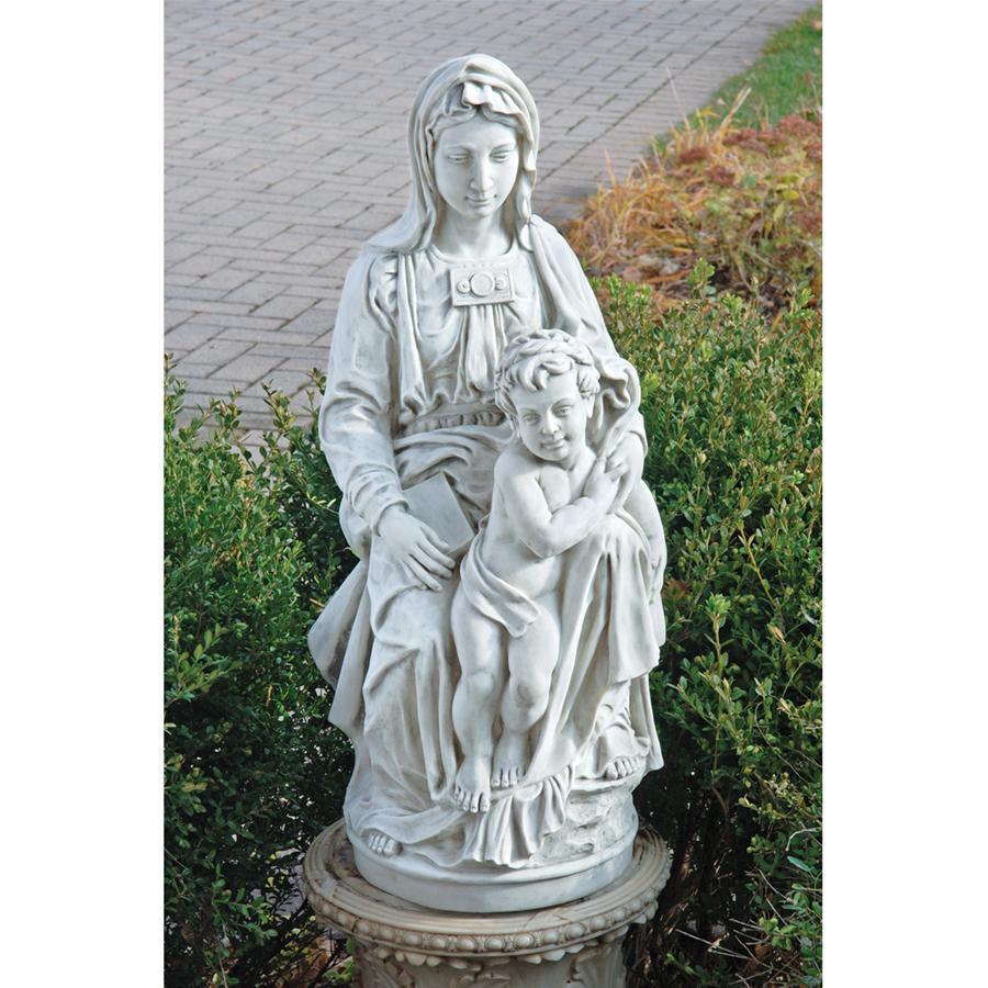 ミケランジェロ 1504年作「ブルージュ聖母教会の聖母子像」西洋彫刻 洋風彫像/Madonna of Bruges Statue: 1504(輸入品)
