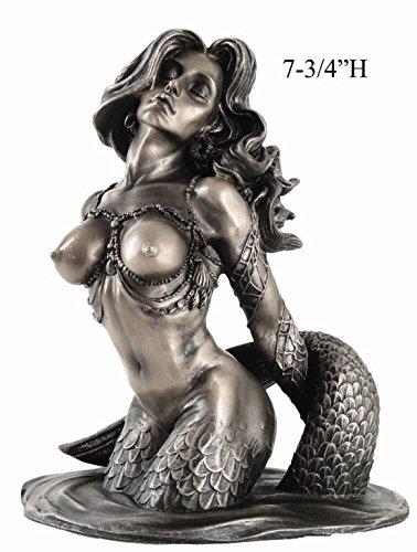 約20cm セクシーな マーメイド(人魚)胸像の置物 彫刻 彫像/7.75 Inch Half Mermaid Bust and Breast Resin Statue Figurine(輸入品)