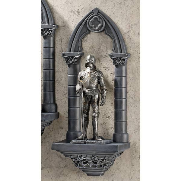 中世騎士(サー・サミエル)の壁掛け彫刻 西洋鎧ナイト 彫像置物 彫刻/ Knights of the Realm Sir Samuel Wall Sculpture(輸入品)