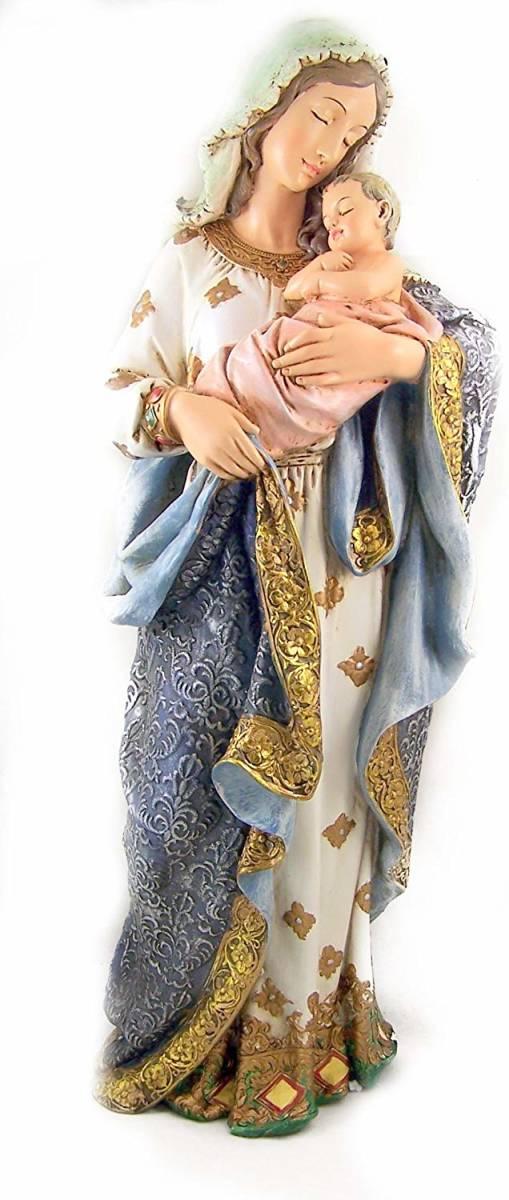 クリスチャンギフト 聖母マリアとキリスト 彫像 高さ 約58cm/ Blessed Virgin Mary Madonna & Infant Jesus Christ (輸入品)