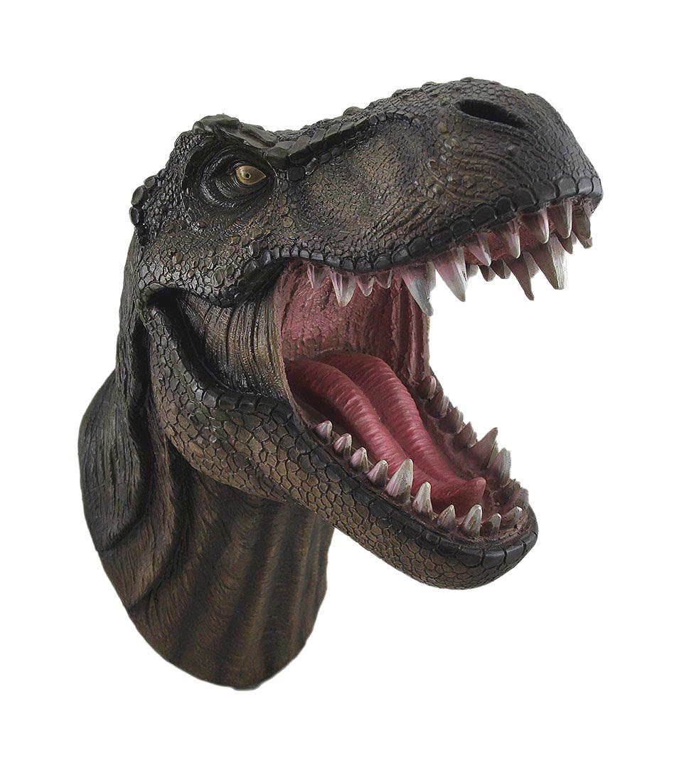 「恐竜の王様」 T-レックス 胸像 ウォール・マウント 壁掛け彫像 彫刻/ Jurassic King T-Rex Head Wall Mount(輸入品