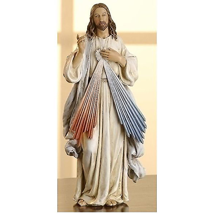 神の慈悲 イエス・キリスト 彫像 高さ約25cm