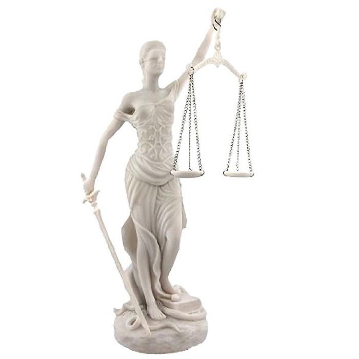 正義の女神 テミス 彫像;法律の正義を象徴する彫像/大理石風