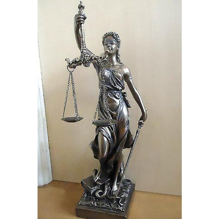 正義の女神 テミス 彫像 法律の正義を象徴する彫像 ブロンズ風仕上げ(輸入品)裁判所 弁護士事務所 司法書士 司法修習生 法学学士 行政書士 お祝い プレゼント