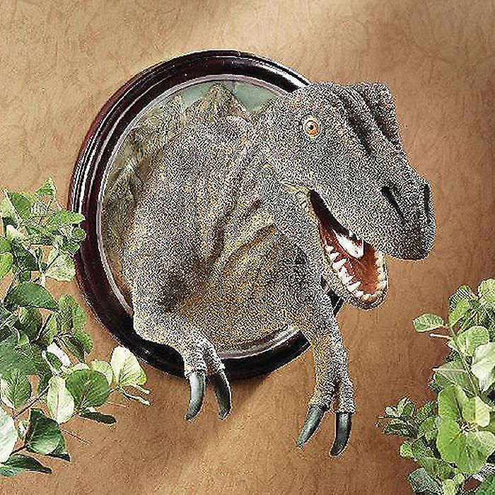 ティラノサウルス Tレックス 肉食恐竜 壁掛け彫刻 装飾雑貨インテリア 輸入品