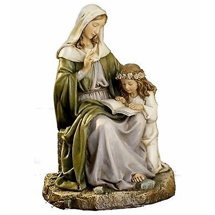 聖母マリアと聖アンナ ルネッサンス彫像 西洋彫刻 高さ 約18cm(輸入品)