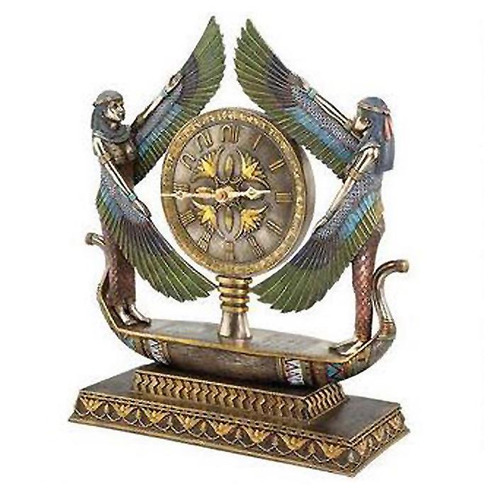 オブジェ彫刻 古代エジプトの女神 イシス 飾り時計 オブジェ 彫刻 彫像(輸入品)