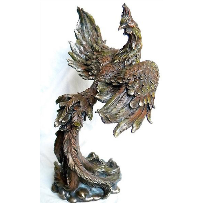 伝説の飛翔するフェニックス(不死鳥)彫刻 彫像(輸入品)