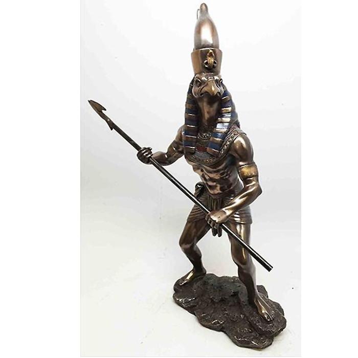 古代エジプト 戦争と天空の神 ホルス 置物 彫刻 彫像 オブジェ 輸入品