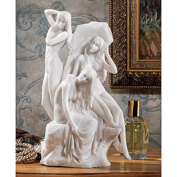 水浴びする少女達(ビーナス)大理石像風彫刻 彫像(輸入品)
