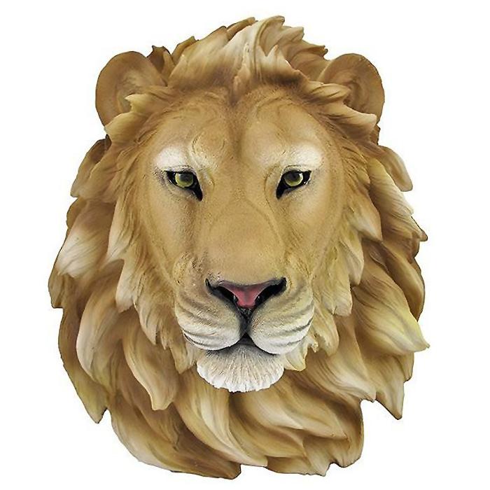 アフリカのライオンヘッド 頭部 マウント壁彫刻 彫像(輸入品)