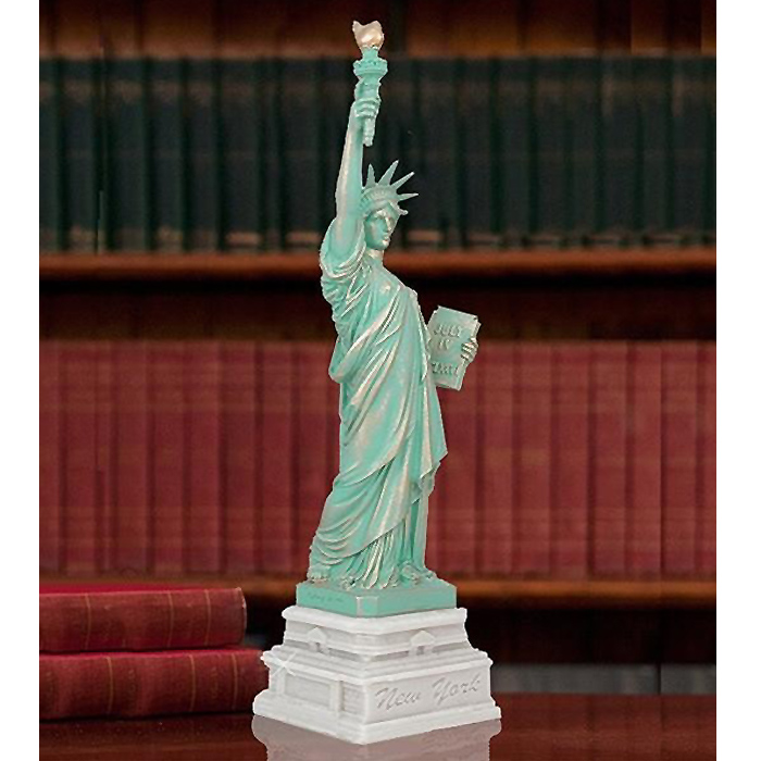 (エリス島財団)125周年記念 自由の女神像 彫像 彫刻 高さ約37cm(輸入品)