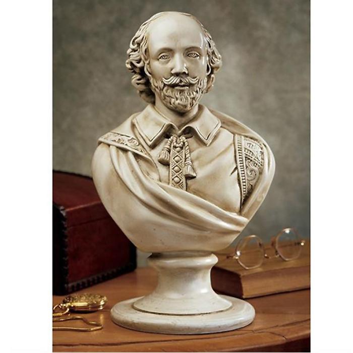 西洋偉人胸像 ウィリアム・シェイクスピア彫像 大理石風彫刻(輸入品)