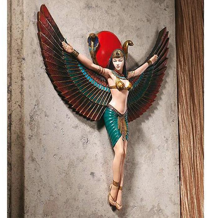古代エジプト 愛と情熱のイシス神 壁彫刻 彫像 女神イシス神 壁掛け彫像/ Goddess Isis Wall Sculpture[輸入品