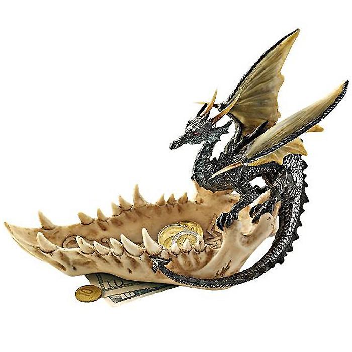 デザイン・トスカノ製 ドラゴンのアゴ オファーディッシュ(皿、小物入れ)彫刻 彫像/ Jaw of the Dragon Offering Dish(輸入品
